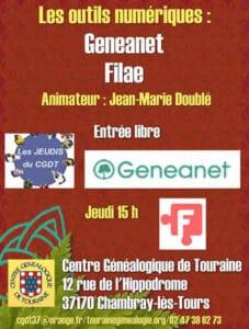 16 décembre 2021 - Les jeudis du CGDT - Geneanet / Filae - au local ou à distance