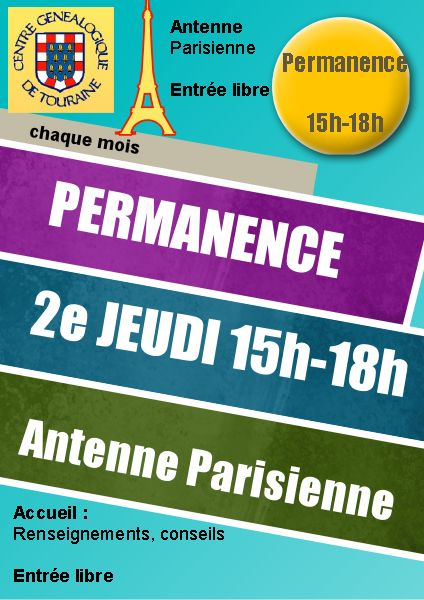 14 octobre 2021 - Permanence Antenne Parisienne au local ou à distance