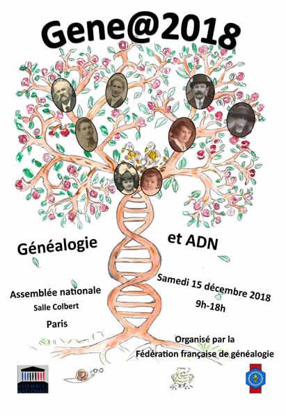 15 décembre 2018 - Gene@2018 - Généalogie et ADN - Assemblée Nationale PARIS
