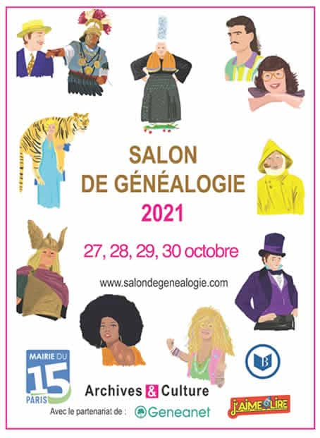 27, 28, 29 et 30 octobre 2021 - 7e Salon de Généalogie - Mairie du XVe