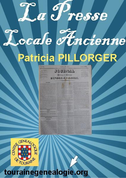 """19 novembre 2020 - Les jeudis du CGDT - """"La Presse locale ancienne""""  (atelier à distance)"""
