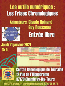 21 janvier 2021 - Les jeudis du CGDT - Les outils numériques : Les Frises Chronologiques (atelier à distance)