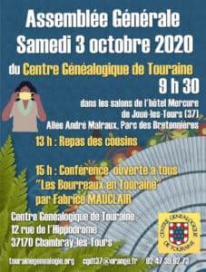 3 Octobre 2020 Assemblée Générale - Hôtel Mercure Joué-les-Tours