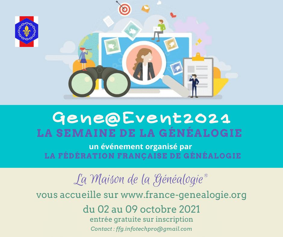 2 au 9 octobre 2021 - Gene@Event2021