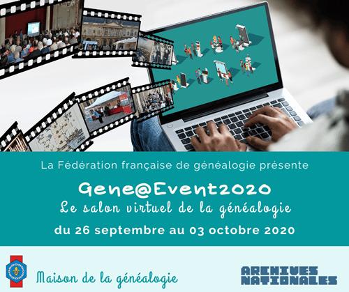 26 septembre au 3 octobre 2020 Gene@Event2020