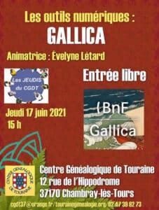 17 juin 2021 - Les jeudis du CGDT - Les outils numériques : Gallica