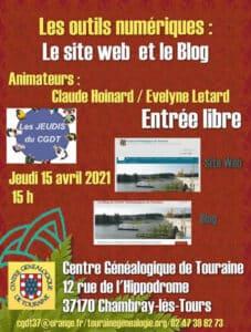 15 avril 2021 - Les jeudis du CGDT - Les outils numériques : Le site Web et le Blog