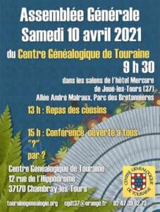 10 Avril 2021 Assemblée Générale - Hôtel Mercure Joué-les-Tours