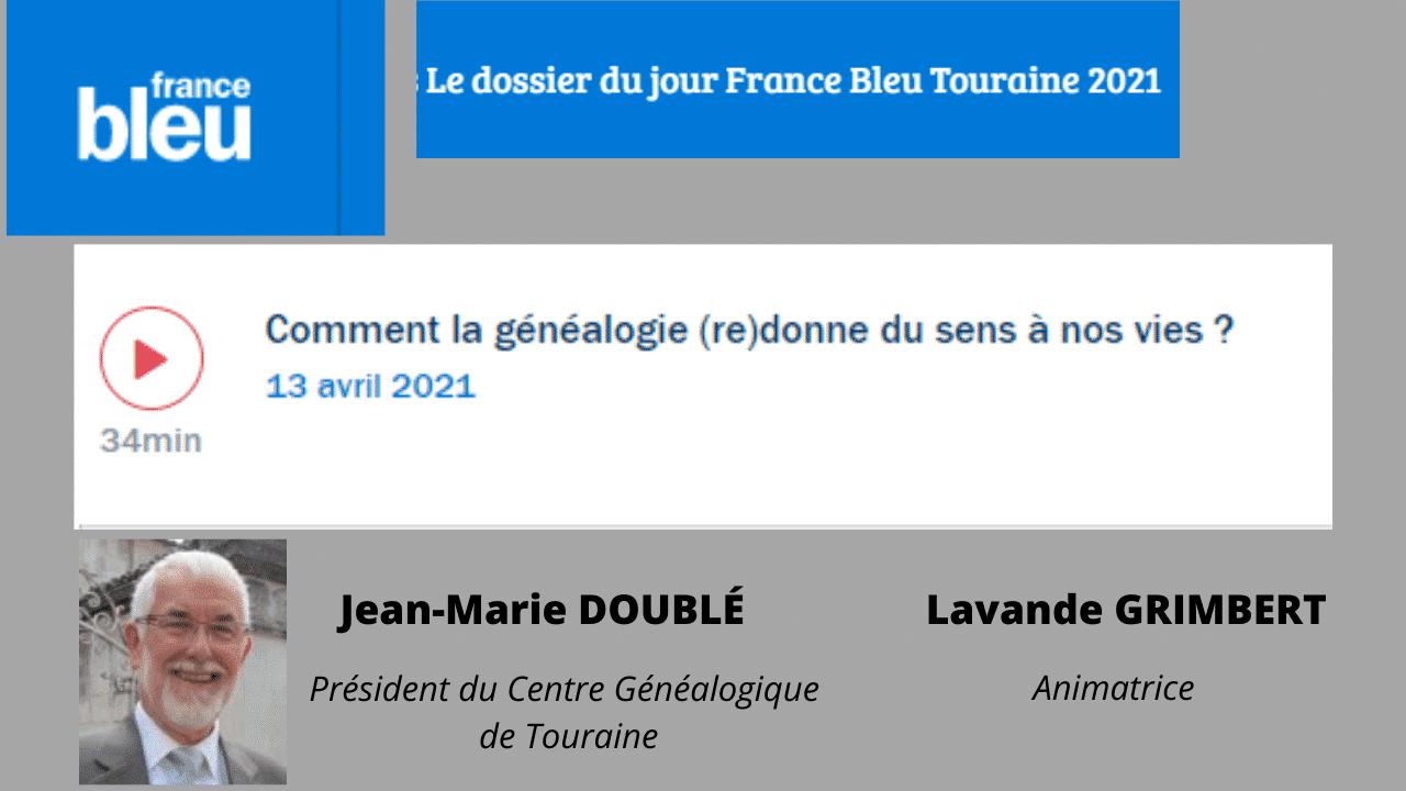13 avril 2021 - Écoutez Jean-Marie DOUBLÉ sur France Bleu Touraine