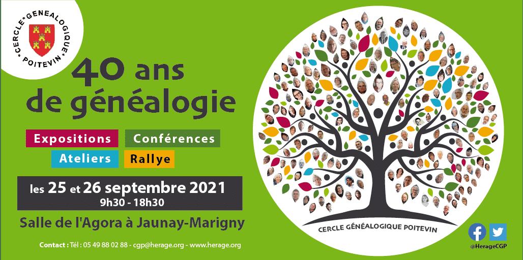 25 et 26 septembre 2021 à Jaunay-Marigny (86) - Le CGP fête ses 40 ans